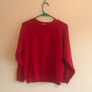 Simple red sweater